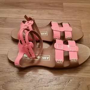 New Juicy Couture Coral Sandals